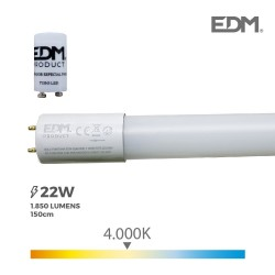 TUBO LED T8 22W 1850 LM...